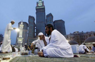 pèlerins en état d'ihram